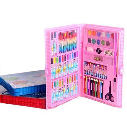 Набор для рисования 86 предметов, набор для творчества розовый, фото 2