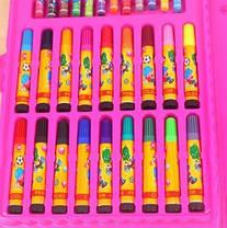 Набор для рисования 86 предметов, набор для творчества розовый, фото 3