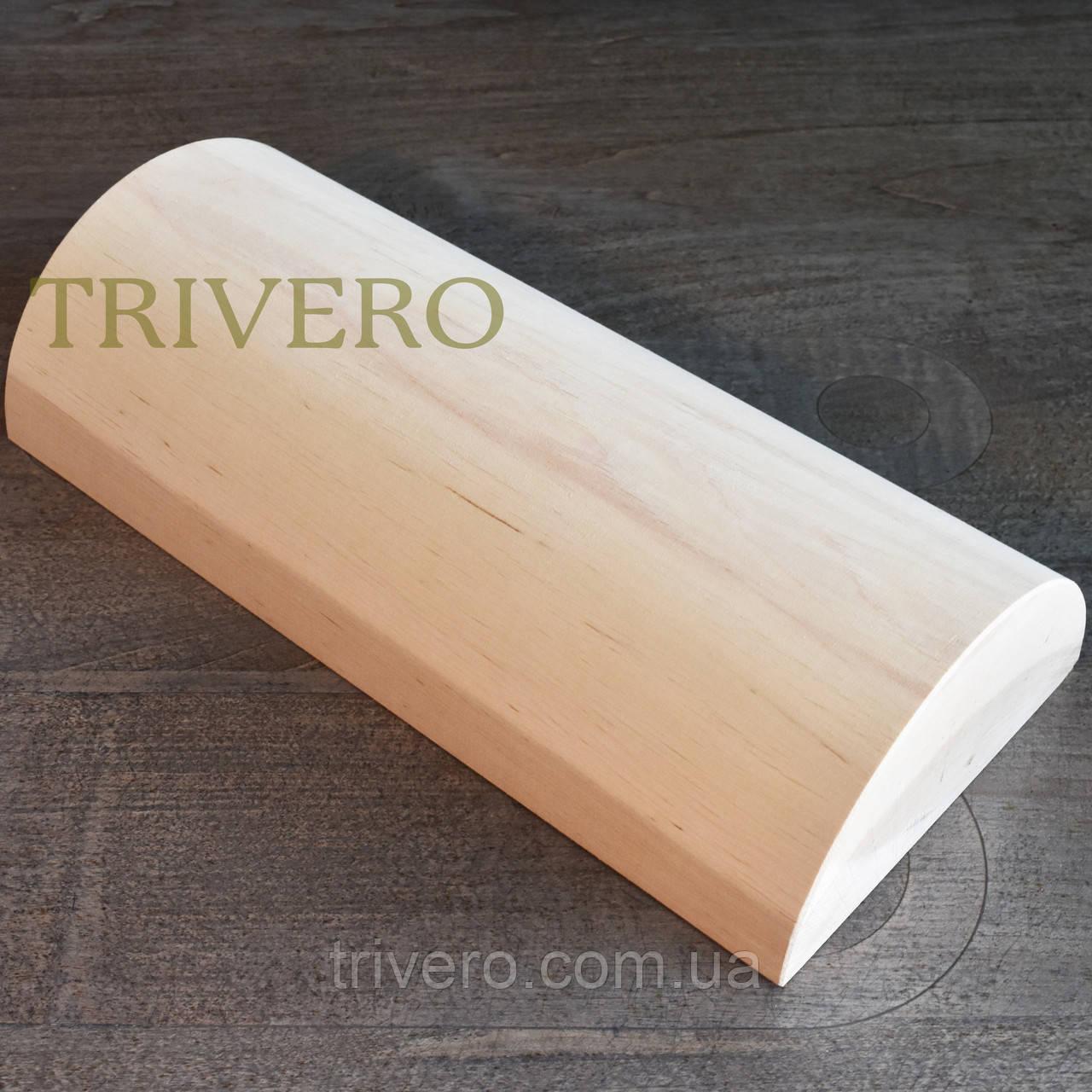 Подушка Ниши - Твердая подушка валик под шею из дерева Покрыта лаком