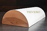 Подушка Ниши - Твердая подушка валик под шею из дерева Покрыта лаком, фото 2