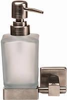 Дозатор для жидкого мыла GLOBUS LUX SQ9433 квадрат матовое стекло/нержавейка SUS304