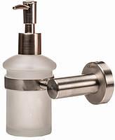 Дозатор для жидкого мыла GLOBUS LUX SS8433 матовое стекло/нержавейка SUS304