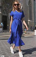 Красивое свободное платье с широким вырезом