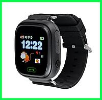 Детские умные часы Q90 с GPS цвет: черные