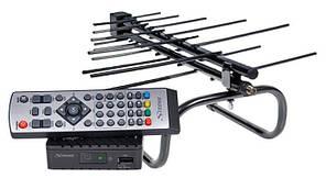 Приставка Т2 Цифровий ефірний приймач HD SRT 8203 + Антена DVB-T2 Кімнатна Romsat Home 3.0
