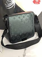 Мужская сумка LV black atlas 099-4 (реплика), фото 1