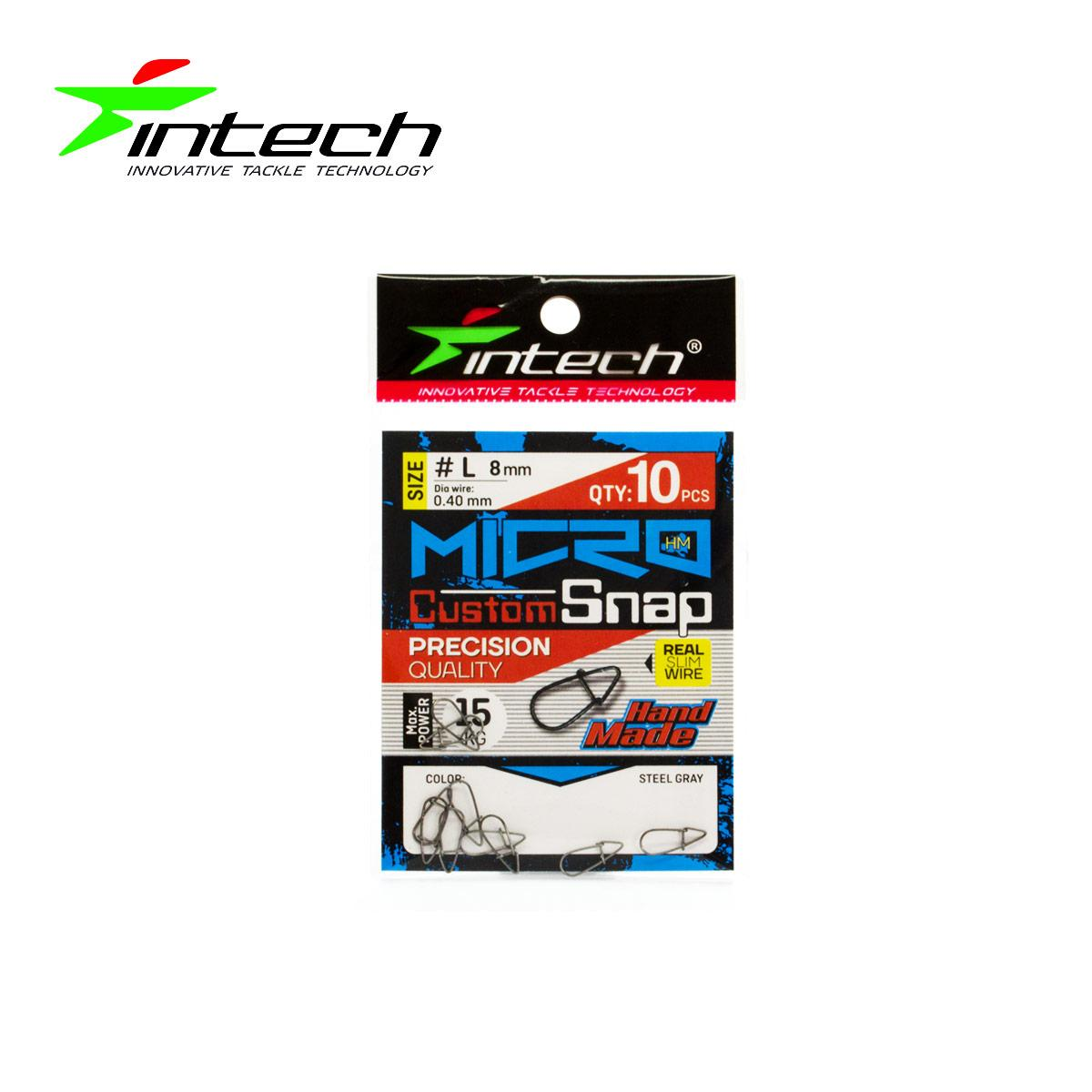 Застежка Intech Micro Custom Snap (10 шт) (L(15 kg))