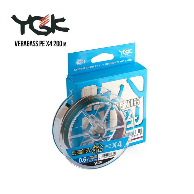 Шнур плетеный YGK Veragass PE x4 200m (3.0 (40lb / 18.14kg))