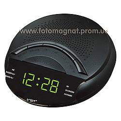 Часы сетевые VST 903-2 с  FM радио и Будильником, Зеленые