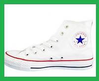 Кеды Converse All Star Chuck Taylor Конверсы белые Высокие 40 размер - 25.5 см