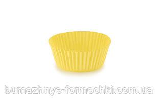 Жёлтые формочки для выпечки кексов и маффинов, 50х30 мм