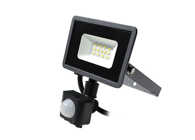 Светодиодный прожектор с датчиком движения LP 10W, 220V, Sensor Premium