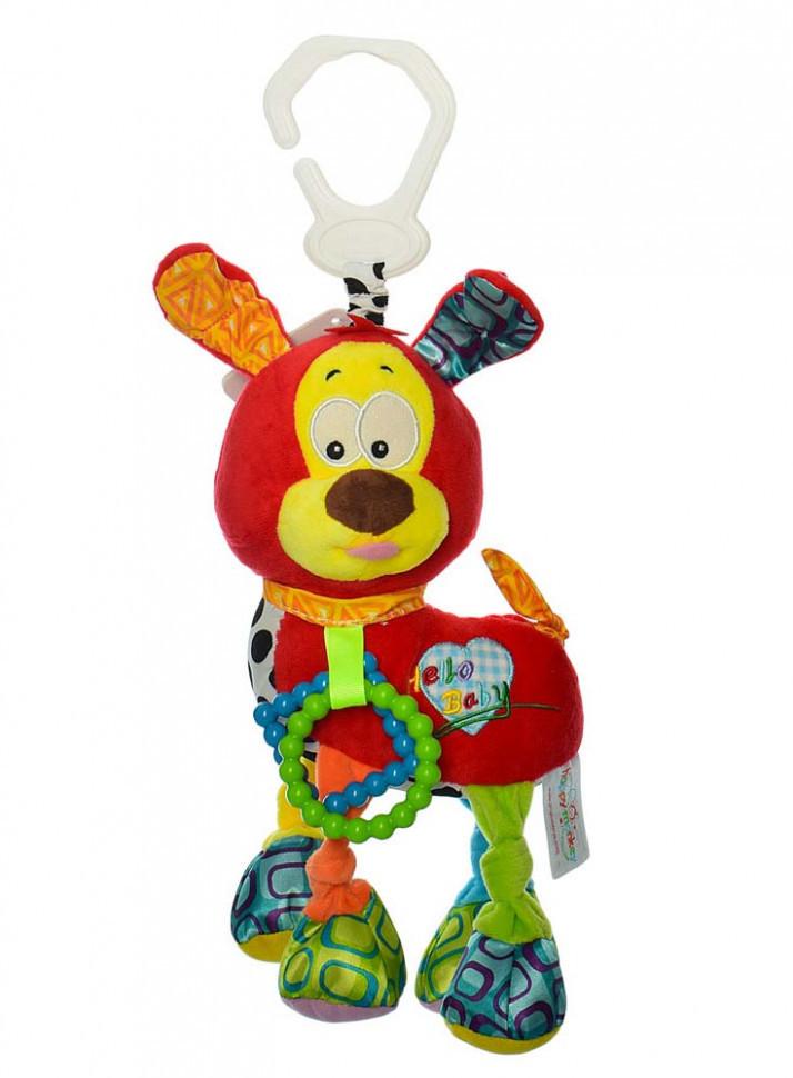 Подвеска на коляску H168096-4A (Красная) собачка, 38см, плюш, 4цвета, в кульке, 20-15-7см (Красная)