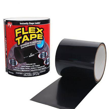 Прорезиненная водонепроницаемая клейкая лента Flex Tape | Сверхпрочная скотч-лента, фото 2