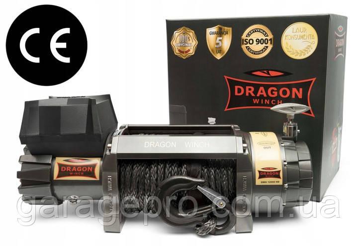 Автомобильная лебедка Dragon Winch Highlander 12000HDs (синтетический трос)