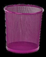 Корзина для бумаг, 12 л, круглая, металлическая, розовая, KIDS Line (ZB.3126-10)