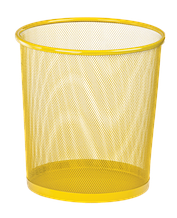 Корзина для бумаг, 12 л, круглая, металлическая, желтая, KIDS Line (ZB.3126-08)