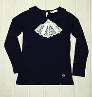 Блуза синяя для девочки в школу Размеры 140 152
