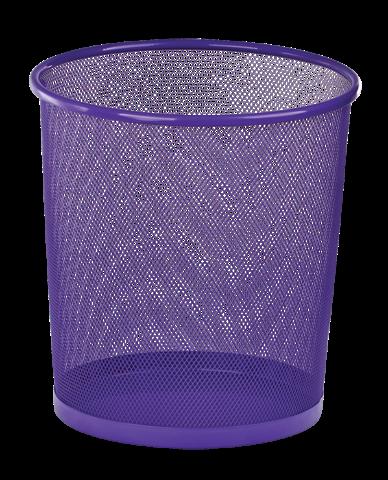 Корзина для бумаг, 12 л, круглая, металлическая, фиолетовая, KIDS Line (ZB.3126-07)