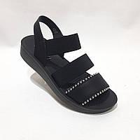 Женские босоножки, сандали летние черные последняя пара р.39, фото 1