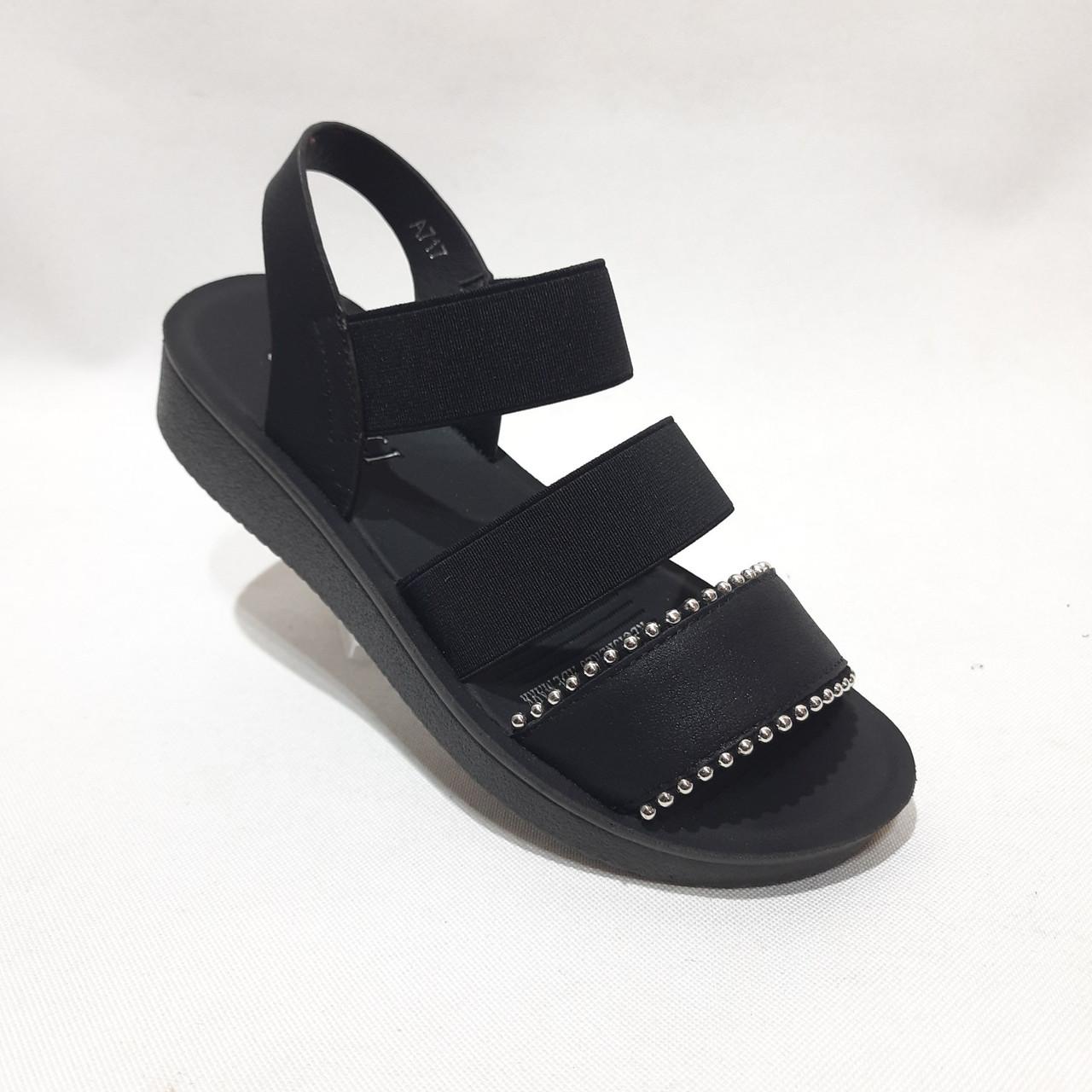 Женские босоножки, сандали летние черные последняя пара р.39