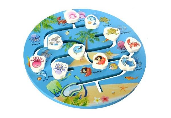 Деревянная игрушка Игра MD 2355 (Морские животные)