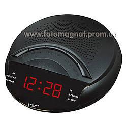 Часы сетевые VST 903-5 с  FM радио и Будильником, Красные