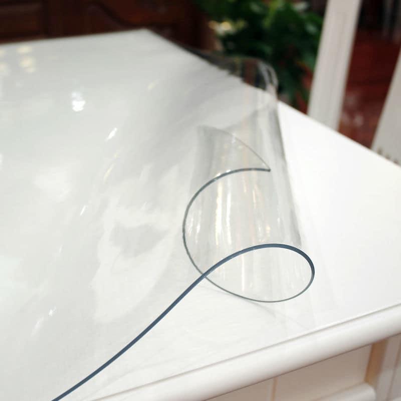 Прозрачная силиконовая скатерть на стол Soft Glass 1.0х1.7 м толщина 1.5 мм Мягкое стекло