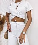 Женский костюм, турецкая рибана, р-р 42-44; 44-46 (белый), фото 2