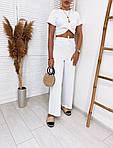 Женский костюм, турецкая рибана, р-р 42-44; 44-46 (белый), фото 3