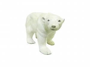 """Статуэтка """"Полярный медведь"""" из натурального дерева махонь"""
