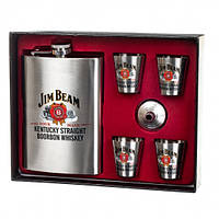 """Подарунковий набір з флягою """"Jim Beam"""" 250/50 мл"""