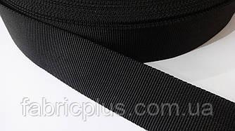Лента ременная стропа 38 мм черная