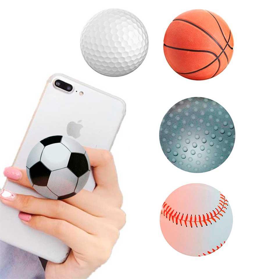 Попсокет держатель для телефона PopSocket Мячи (разные варианты)