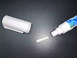 Меловой маркер на водной основе белый 5 мм 50 штук. Крейдяний маркер білий.Для меловых грифельных, фото 2