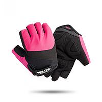 Спортивные фитнес перчатки для зала Way4you Pink w-1752M S
