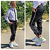 Модные школьные брюки джоггеры на девочку