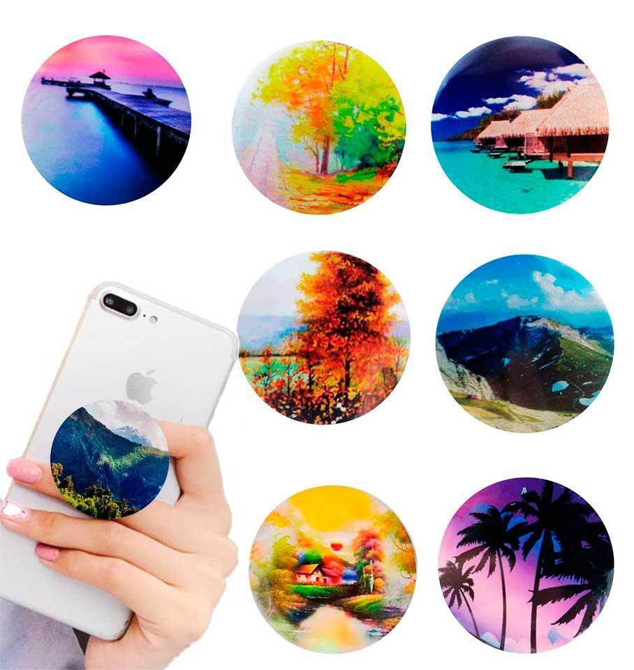 Попсокет держатель для телефона PopSocket Пейзаж (разные варианты)