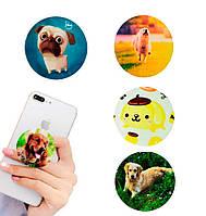 Попсокет держатель для телефона PopSocket Собака (разные варианты), фото 1