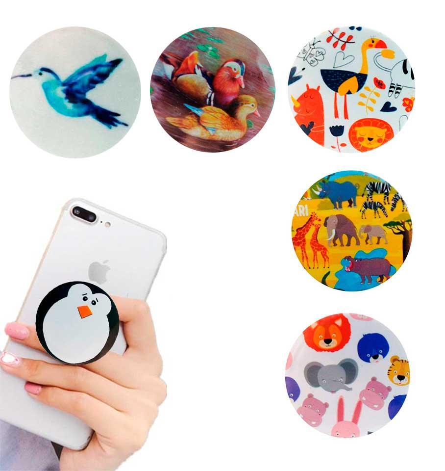 Попсокет держатель для телефона PopSocket Животные (разные варианты)