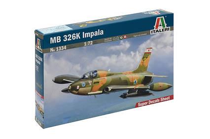 MB 326K IMPALA. Сборная модель самолета в масштабе 1/72. ITALERI 1334, фото 2