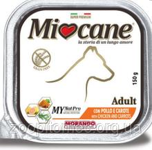 Вологий корм для собак Morando MioCane (Морандо Миокане) Adult with Chicken and Carrots з куркою і морквою, 300 г