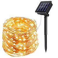 Гирлянда LED капля росы SOLAR от солнечной батареи 100 LED 10 метров