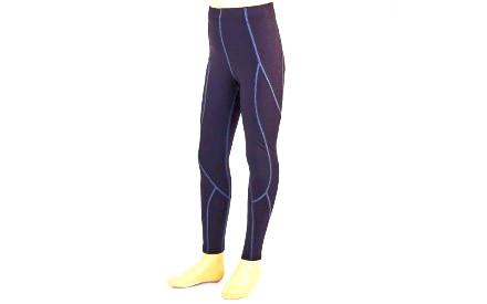 Штаны компрессионные подростковые для спорта LD-1202T-BK(28) (PL, лайкра, р.135-140см, черный)