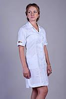 "Медицинский халат женский ""Health Life"" х/б белый 2128"