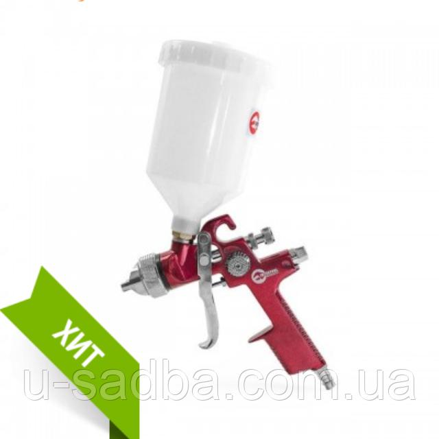 Краскопульт пневматический HVLP, верхний пластиковый бачок INTERTOOL PT-0104