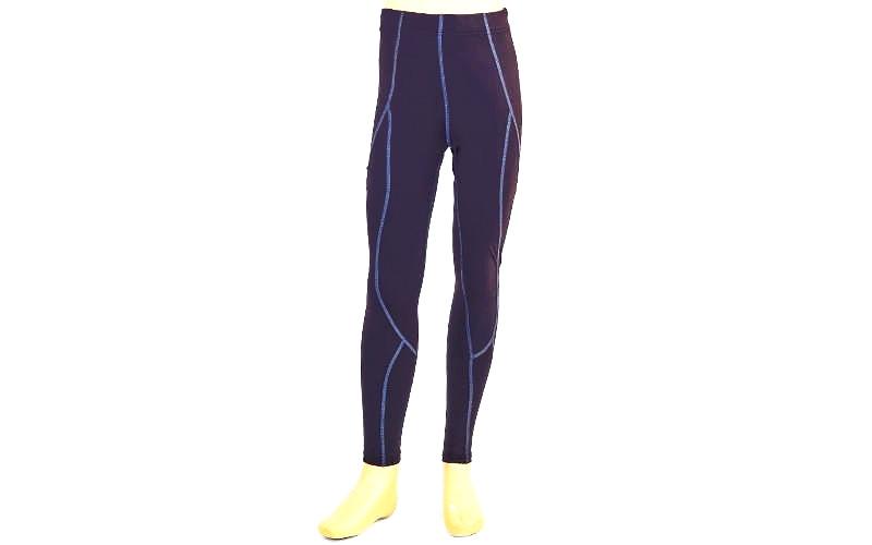 Штаны компрессионные подростковые для спорта LD-1202T-B(30) (лайкра, р.140-145см, черный-синий)