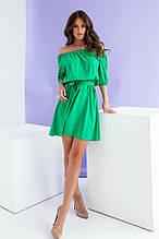 Женское платье, евро - софт, р-р 42; 44; 46; 48 (зелёный)