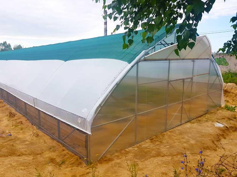 Фермерские теплицы под пленку 10Х30 Фермер ПРОФИ - 10.2-У (300 м2)