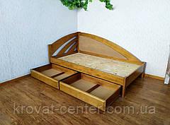 """Деревянная полуторная кровать с мягкой спинкой """"Радуга Люкс"""" от производителя, фото 2"""